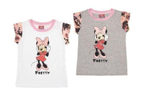 T-Shirt|GR 86//92//98//104//110//116|Baumwolle|weiss|grau|beige Minnie Mouse NEU