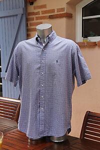 Chargement de l image en cours jolie-chemise-a-carreaux-bleue-RALPH-LAUREN- TAILLE- 8d544a03f1e1