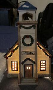 Lemax, Village School, #55181, Dickensvale Christmas Village, 1995, Retired