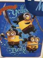 Despicable Me Minions Pirates Minion Blue Soft Silk Touch Fleece Throw Blanket