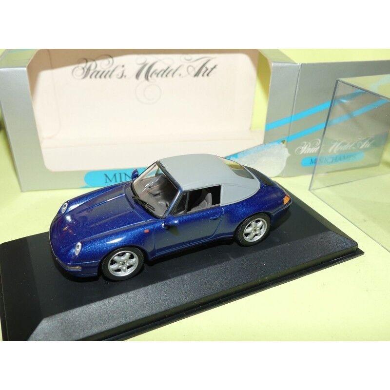 PORSCHE 911 CABRIOLET Capoté 993 1994 Bleu bleu MINICHAMPS 1 43