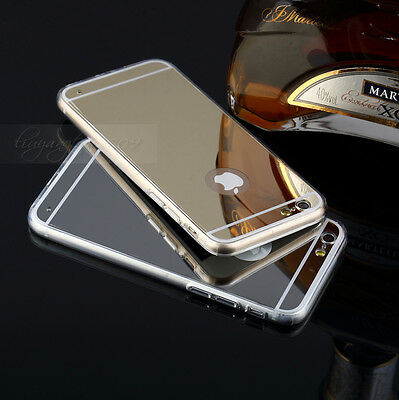 Fashion Luxury Ultra-thin Mirror Transparent TPU Case Cover For iPhone 6 /6 Plus