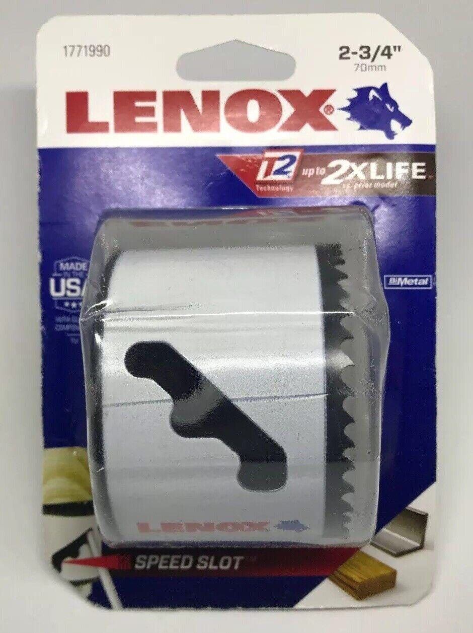 "Lenox Bi Metal Hole Saw 2-3//4 /"" Dia 1-1//2 /"" Depth Cut"