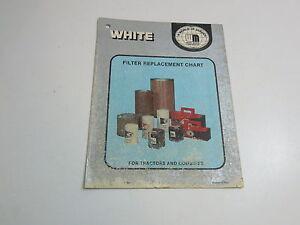 VINTAGE WHITE FILTER REPLACEMENT CHART DEALER BROCHURE BOOKLET