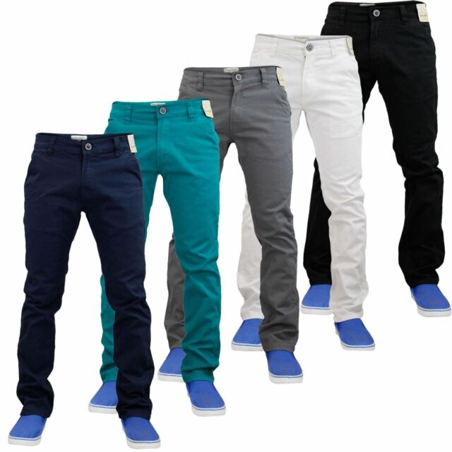 official images latest discount look good shoes sale NEU Herren Stretch Slim Fit Chino Jeans Gerades Bein Chino Hose Pants 30-42
