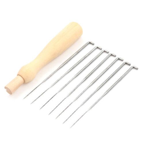 8pcs//set Needle Felting With Wooden Handle Starter Wool Felt DIY Tool Craft ST