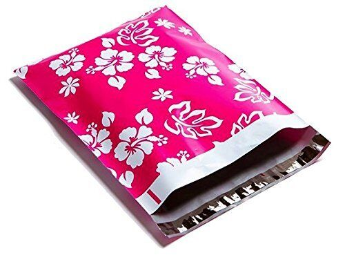 200 10x13 Pink Aloha Designer Mailers Poly Shipping Envelopes Boutique Bag