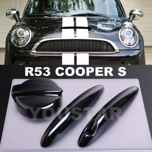 US STOCK PIANO BLACK Door Handle Covers /& Petrol Gas Cap MINI Cooper S F56 F57