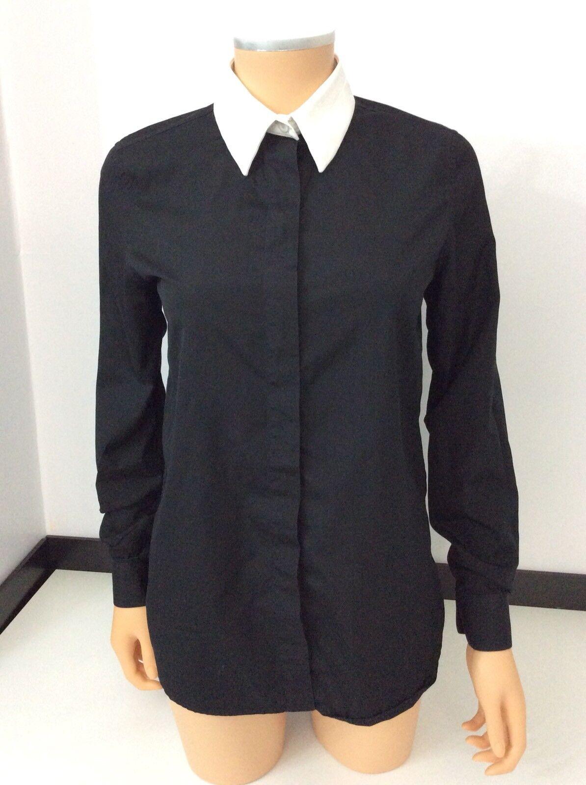 Givenchy Paris Negro Camisa azulsa Prenda para  el torso Talla 36 Reino Unido 8 blancoo Manga Larga Cuello en muy buena condición  tienda en linea