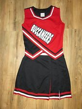 BUCCANEERS Real High School Cheerleader Uniform Adult Sized Cheer Outfit 36/30