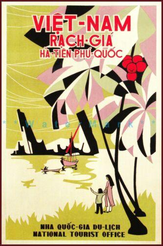 Vietnam Rach Gia National Tourist Office Vintage Poster Retro Art Travel