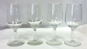Wine-glasses-set-of-4-footed-stemmed-glass-bar-glassware-drinking-drinks-JF3