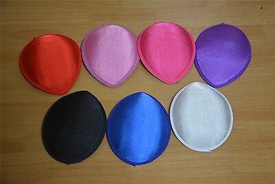 7 color Satin TearDrop Millinery Hat Fascinator Headpieces Base DIY Craft B045