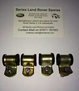 Land Rover Series 2 2A 3 88 109 /& Lightweight Rear Brake Pipe Clip /& Rubbers x 4