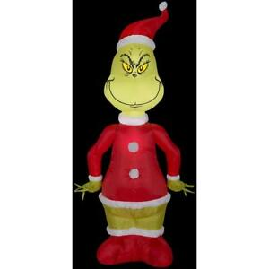 CHRISTMAS-SANTA-4-FT-DR-SEUSS-THE-GRINCH-AIRBLOWN-INFLATABLE-YARD-DECOR-NEW
