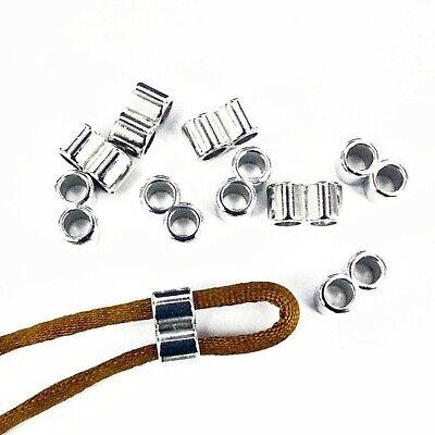 2 pcs-Ceramic Slider bead for 4mm Round Cord 21mm Enamel Beads Qty 2 Metallic Ceramic Tube Beads