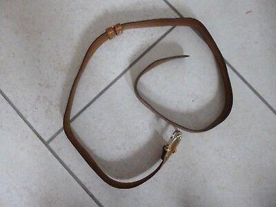 """Cordiale Vintage Cintura Da Uomo In Pelle Marrone Con Fibbia In Metallo - 39 3/4 """"l-mostra Il Titolo Originale Colore Veloce"""