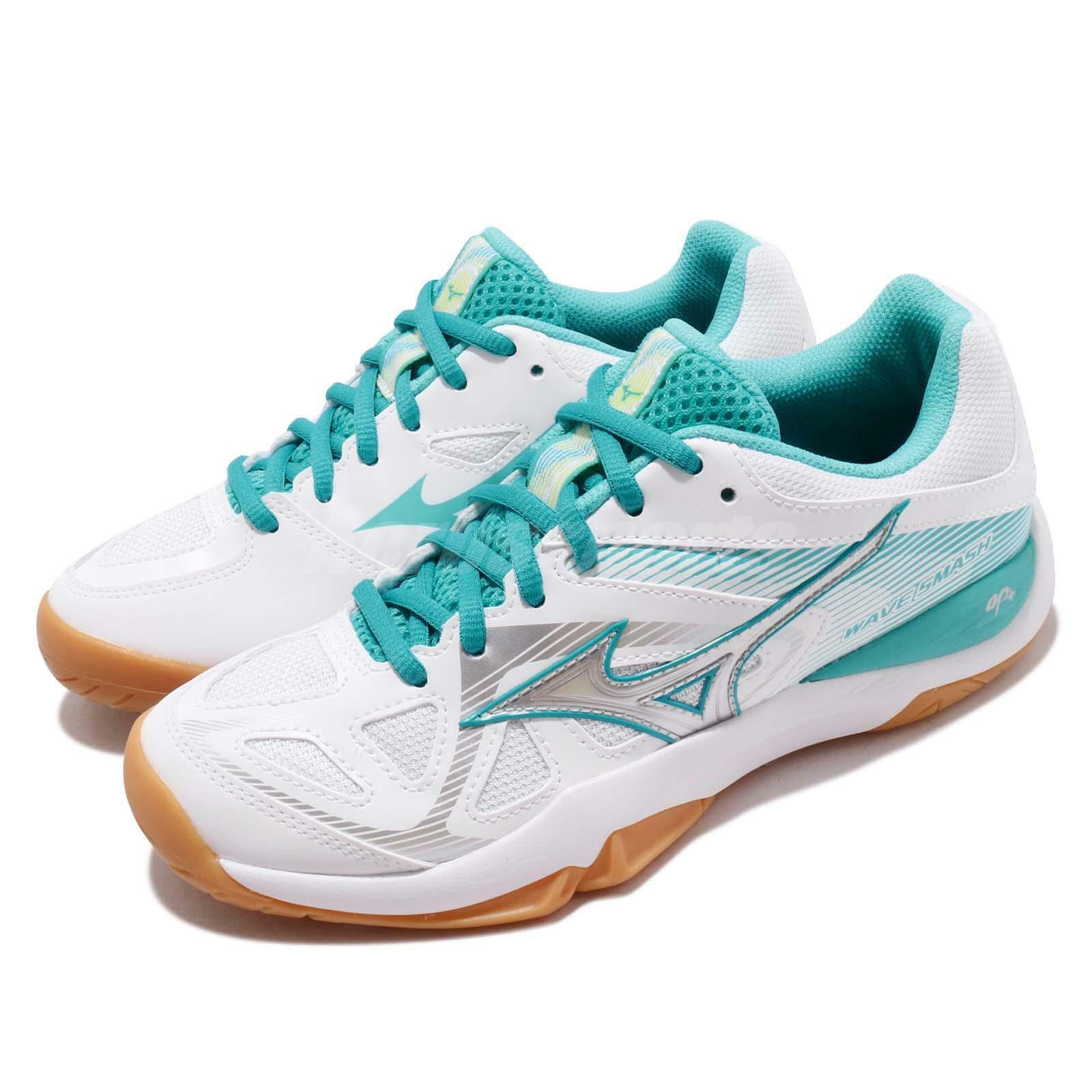 Mizuno Mizuno Mizuno Wave Smash 5 Goma verde blancoooo para Hombre Mujer Bádminton Zapatos 71GA1960-24 a81885
