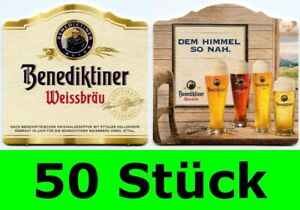 50 Stück Bierdeckel Benediktiner Weissbier Weissbräu Ettal Bar Party Theke Typ 2