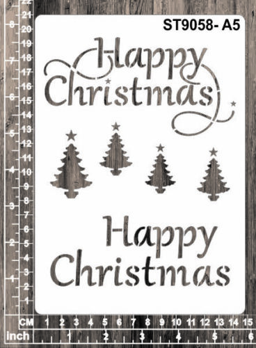 Masks for Scrapooking A6 ST9058 Christmas Words Cardmaking Stencils A4 A5