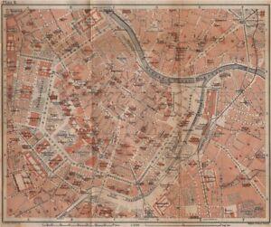 VIENNA city centre WIEN Burg Town plan stadtplan Austria