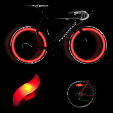 Red LED Motorcycle Cycling Bicycle Bike Safe Flash Wheel Signal Tire Spoke Light
