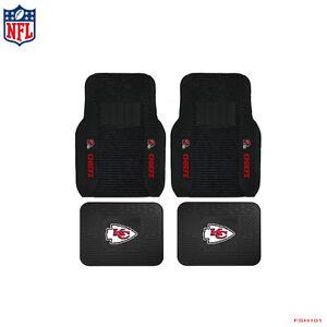 New-NFL-Kansas-City-Chiefs-Car-Truck-Front-Rear-Rubber-Heavy-Duty-Floor-Mats