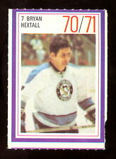 1970-71 ESSO POWER PLAYERS NHL #7 BRYAN HEXTALL EX+ PENGUINS UNUSED STAMP