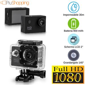 ACTION CAM PRO CAM SPORT FULL HD 1080P VIDEOCAMERA IMPERMEABILE SUBACQUEA