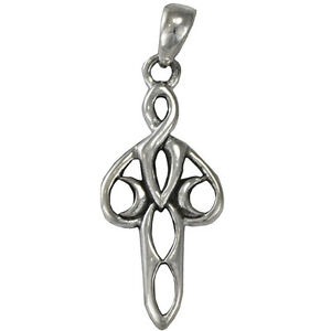 Sterling-Silver-Stylized-Lunar-Goddess-Pendant-Wiccan-Pagan-Fantasy-Art-Jewelry