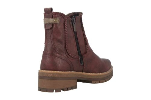Mustang Shoes Boots 1344-601-55 Chaussures Femmes Grandes Tailles Rouge