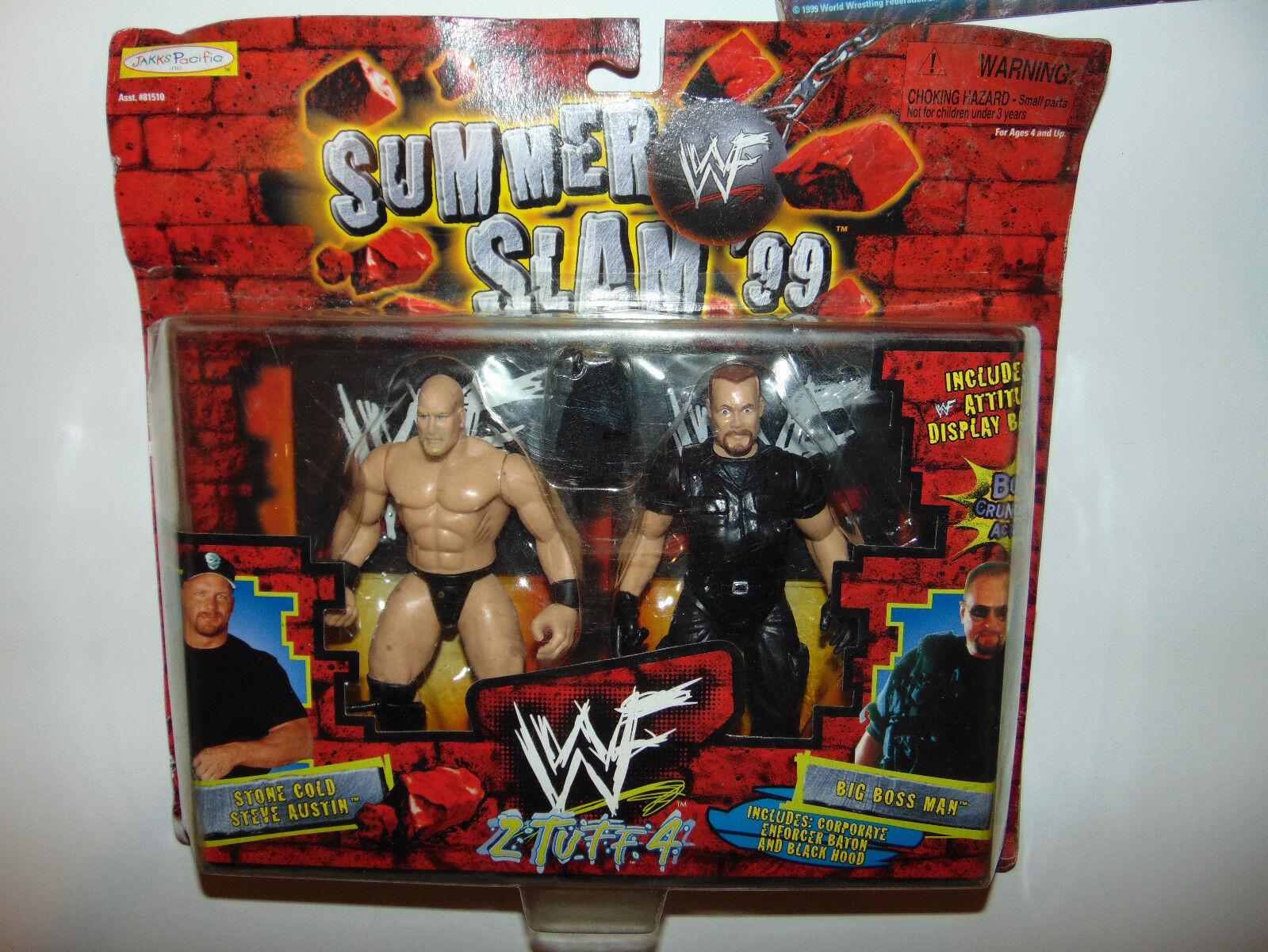 3) Stone Cold Steve Austin Austin Austin Big Boss Man Action Figures Set Wrestling WWF WWE New ebe88d