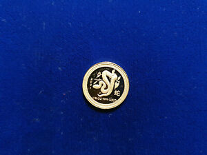 2001 Australia Lunar Year of the Snake 1/10 oz PROOF .9999 GOLD $15 Coin RARE