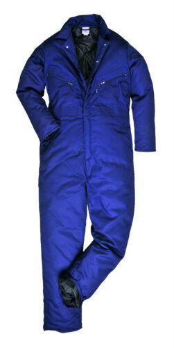 WINTER PREMIUM PORTWEST THERMAL COVERALL QUILTED OVERALLS,PADDED,WARM