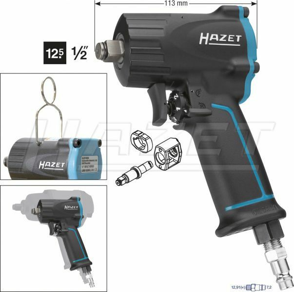 Hazet Impact Driver Extra short 9012M Torque 1100 NM Pneumatic Screwdriver