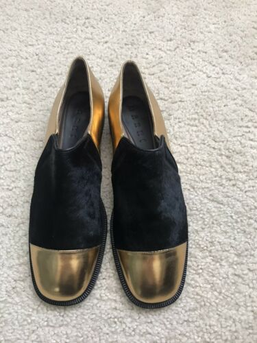 Marni Gold Slip On Shoes 39/ US 8.5