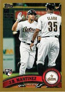 2011 Topps Jd Martinez Houston Astros Us186 Baseball Card