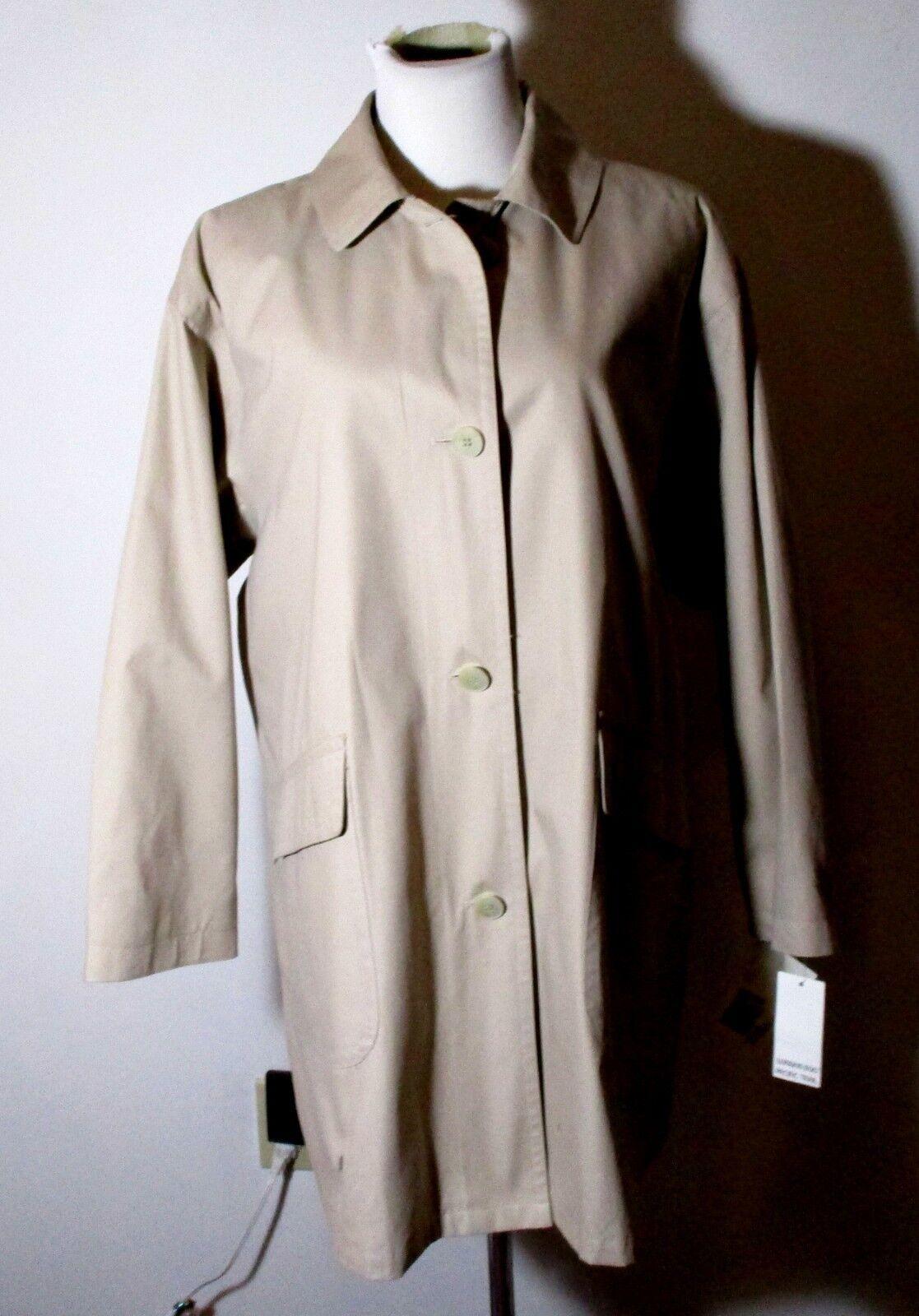 Women's TOWNE by London Fog Beige Mid Length Button Overcoat Size 8 Reg. NWT