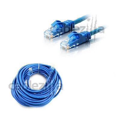 50ft Cat6 Patch Cord Cable 500mhz Ethernet Internet Network LAN RJ45 UTP Blue