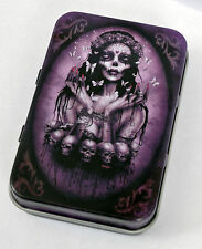 VICTORIAN BUTTERFLY ZOMBIE GIRL SKULL GOTH GOTHIC HINGED MOTH TIN MINTS PILL