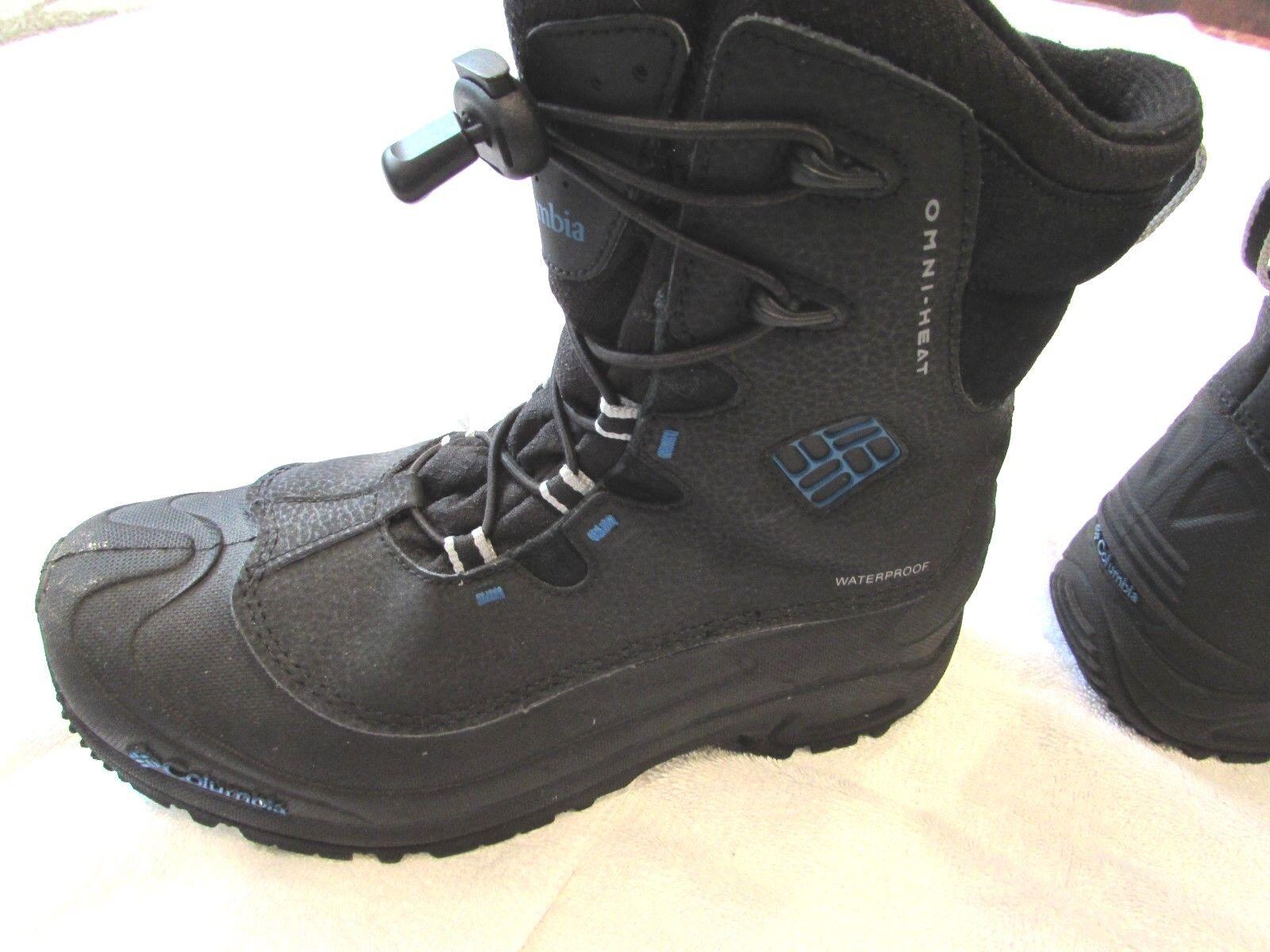 Columbia Omni-Heat Men's Hiking Boots Outdoor Waterproof Black Size 7 Pre-Owned