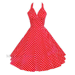 5c1a3005fe31 Maggie Tang 50s VTG Retro Pinup Rockabilly Polka Dot Housewife Swing ...