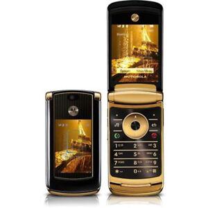Debloque-2-2-034-Motorola-RAZR2-V8-512MB-Luxury-Edition-Flip-Telephone-Mobile-Dore