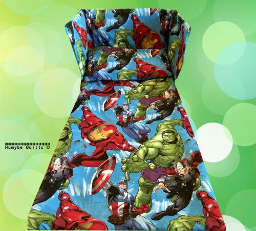 Thor Marvel Avengers Lit Ensemble De Literie-Captain America Hulk SUPER HEROES
