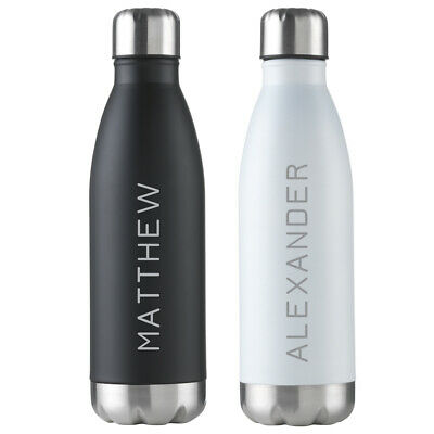 Hot//Cold drinks Personalised 500ML Water Bottle Thermal Flask Stainless Steel