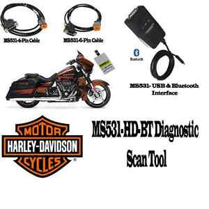Details about MS531-HD-BT Harley Motorcycle Scan Tool - Diagnostic Scanner  & Performance Tuner