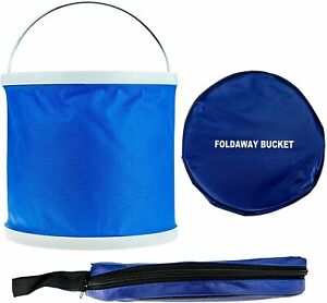 11L Foldaway Bucket Blue Storage Container Travel Cleaning Car Camping Fishing