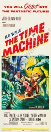 Time Machine The 14inx36in Insert Movie Poster Replica
