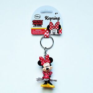 Image is loading Disney-Minnie-Mouse-Minnie-PVC-Figural-Keyring-Keychain- 4637ba84a