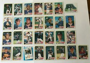 1989-ATLANTA-BRAVES-Topps-COMPLETE-Baseball-Team-SET-29-Cards-MURPHY-SMOLTZ-GANT